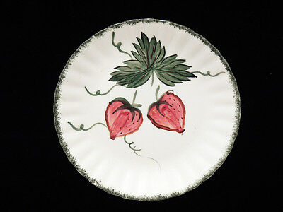 Blue Ridge Southern Potteries Strawberry 8.5 in Plate Vintage