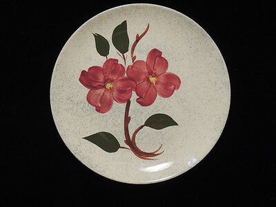 Blue Ridge Southern Potteries Burgundy Floral 9.5 in Plate Vintage