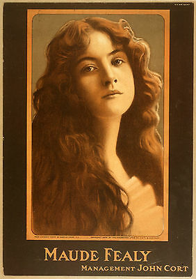 Photo Printed Poster Stage Theatre People Stars Maude Fealy John Cort Management