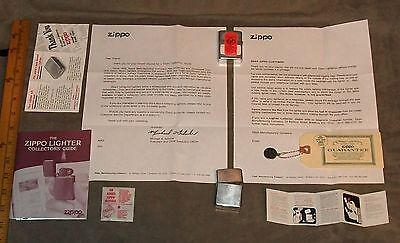 Zippo Lighter lot of 2, with paper peripheral,one cent guarantee, 1977-1995