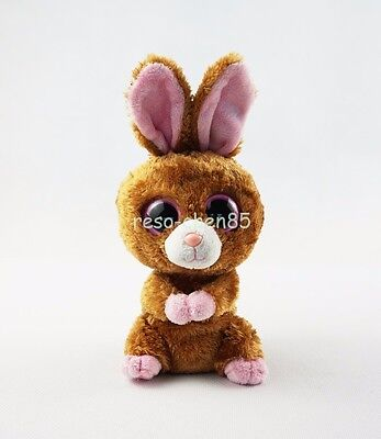 "6"" Ty Beanie Boos Hopson Brown Bunny Rabbit Stuffed Animals Toys With no tag"
