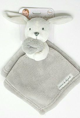 Blankets & Beyond Plush Gray Bunny with White Head ~ New