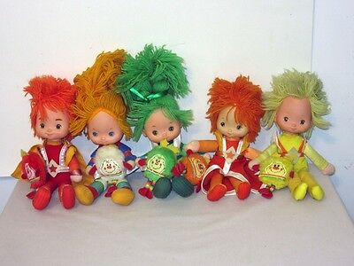 "Lot of 10 Vintage Hallmark Mattel Rainbow Brite 11"" Dolls & Sprites"
