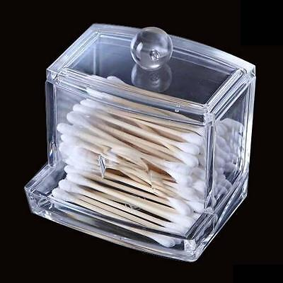 Acrylic Q-tip Holder Box Cotton Swabs Stick Storage Cosmetic Case Househould K1