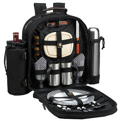 Bold Picnic Backpack Cooler for Two with abd Coffee Blanket  082-BLK