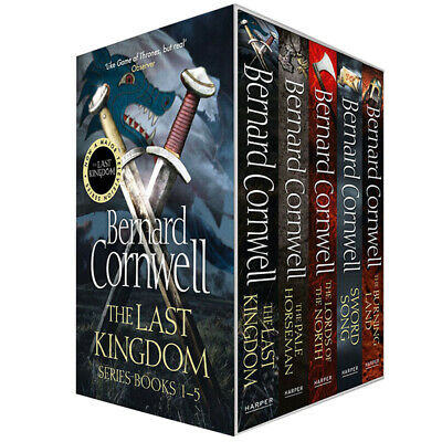 Last Kingdom Series Collection 5 Books Set By Bernard Cornwell Paperback New