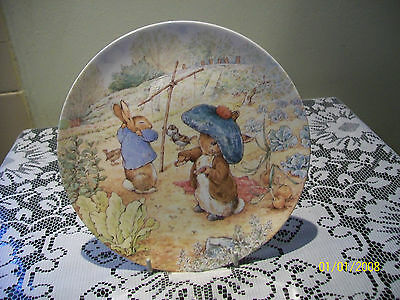 Danbury Mint Wedgwood Beatrix Potter The Tale of Benjamin Bunny Plate
