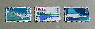 Complete GB used stamp set: 1969 First Flight of Concorde