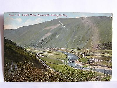 Postcard - Rheidol Valley And The Stag - Cardiganshire - Wales - 1913