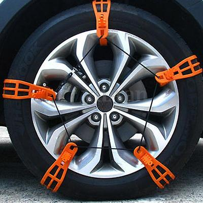 10Pcs Anti-skid Car Snow Tyre Tire Chains Beef Tendon Wheel Rubber Chain L Size