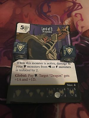 Dice Masters: Yu-Gi-Oh! Lord of D. Rare Card & 2x Dice #091/120 (UR) HTF WOW