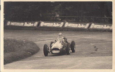 Mike Hawthorn In Single Seater Racing Car, Postcard Type Photograph.