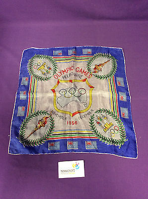 Olympic Games Melbourne 1956 Commemorative Silk Scarf