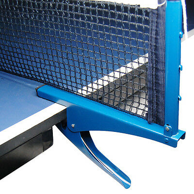Blue Ping Pong Table Tennis Net Clamp Post Stand Set Replacement Mesh Standard
