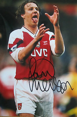 Paul Merson Signed 12X8 Arsenal Photo