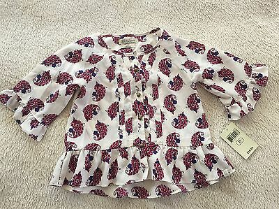 Lucky Brand Girl's Lana Print Top Blouse Size 3T NWT