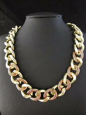 Fashion Gold Tone Curb Chain Link Pendant Necklace Chains PNA541