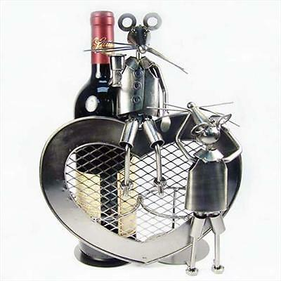 Primo Tech C-94432 Double Mice Heart Hand Made Wine Holder