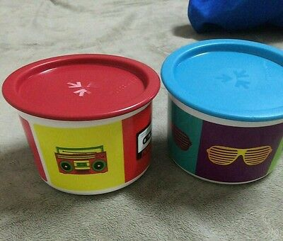 Tupperware retro cookie canister set
