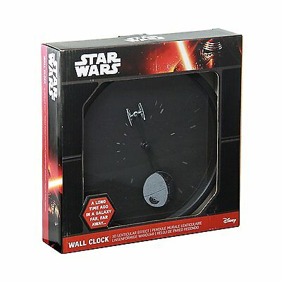 Star Wars 3D Lenticular Effect Wall Clock New Boxed