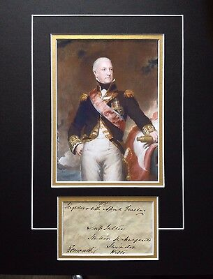 1st VISCOUNT EXMOUTH - BRITISH NAVAL OFFICER - EXCELLENT SIGNED B/W DISPLAY