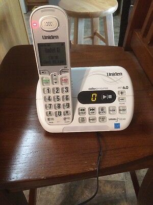Uniden D3097 One Handset Expandable Cordless Phone DECT 6.0 1.9GHz LCD Display