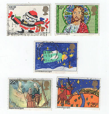GB Stamps SG1170-1174. 1981 Christmas. Children's Pictures. Multicoloured Used