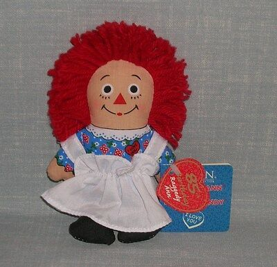 "Raggedy Ann Dakin 85Th Anniversary 6"" Doll With Tags & I Love You Heart On Chest"