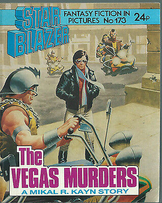 The Vegas Murders,no.173,starblazer Fantasy Fiction In Pictures,comic