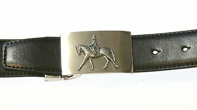 Horse Dressage Style Leather Belt and Metal Buckle Ideal Riding Gift Tinned