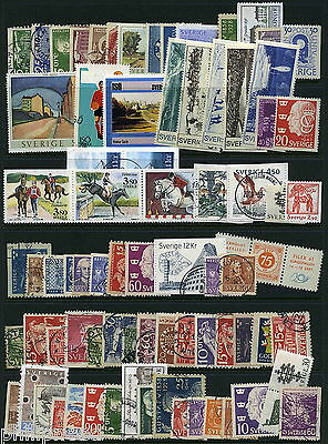 SWEDEN Mint & Used x60+ Commemoratives  [P347