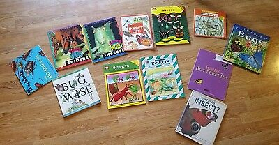 Lot of 12 Non Fiction Insect Bugs Books and Lessons Upper Elementary Biology
