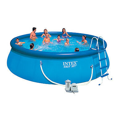 "Intex 18ft x 48"" Easy Set Swimming Pool with Filter Pump and Accessories (28176)"