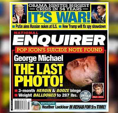 George Michael Last Photo Suicide Note Trump War National Enquirer January 2017