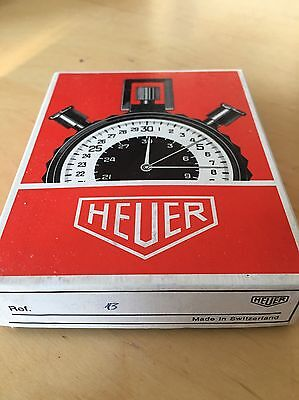 Vintage Original Boxed Heuer Stopwatch With Guarantee Booklet Mint Condition