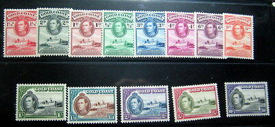 Gold Coast 1938Kgvi Definitive Set Of 13 Nh