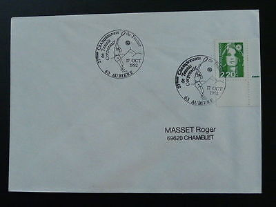 tennis competition 1992 postmark on cover