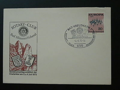 Rotary Club cover 1972 Bad Munster Germany 64918