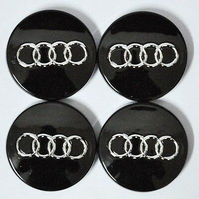 4pcs 60mm black WHEEL CENTER HUB CAP RIM CAPS for AUDI A3 A4 A6 A8