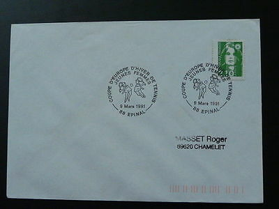 tennis cup of Europe for women 1993 postmark cover