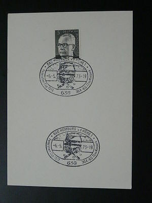 tennis federation cup 1973 postmark on card Germany 69696