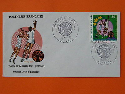 volleyball Guam olympic games 1975 FDC French Polynesia 32299