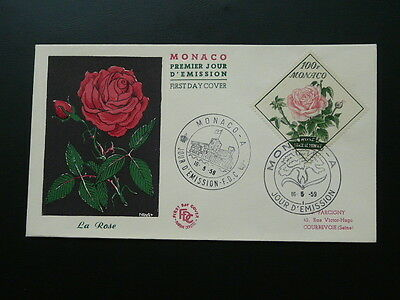 rose Princess Grace FDC Monaco 1959