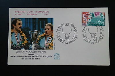 table tennis world cup 1977 FDC 67494