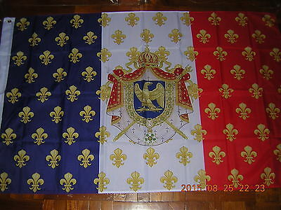 100% NEW Reproduced Royal Standard Napoleon France French Flag Ensign 3ftX5ft