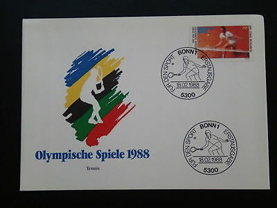 olympic games Seoul 1988 tennis FDC Germany 66953
