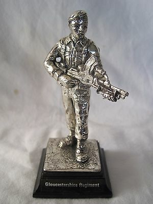Gloucester Regiment Royal Hampshire Pewter / Silver Plate Military Figure