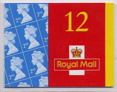 GB 2001 12 x 2nd CLASS BARCODE BOOKLET ME1a