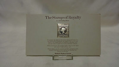 1977 The Stamps Of Royalty Sterling Silver Postage Stamp - No 1 - One Pound