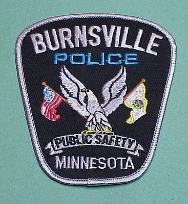 Burnsville  Minnesota  Mn   Police Patch   Nice!!  Free Shipping!!
